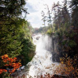 Magical waterfall scene
